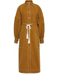 Ulla Johnson - Cyril Midi Twill Trench Coat - Lyst