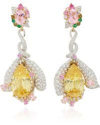 Anabela Chan - M'o Exclusive: Fuchsia Canary Earrings - Lyst