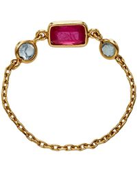 Yi Collection - Ruby And Aquamarine Reverse Set Triplet Chain Ring - Lyst