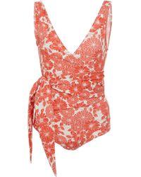 Lisa Marie Fernandez - Floral-print One-piece Swimsuit - Lyst