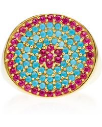 Joanna Laura Constantine - Gold-plated, Ruby And Turquoise Pinky Ring - Lyst