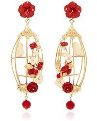 Of Rare Origin - Ruby Lovebird Earrings - Lyst
