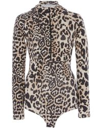 Paco Rabanne - Leopard Bodysuit - Lyst