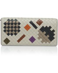 Bottega Veneta - Chain Strap Artsy Leather Wallet - Lyst