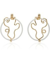 Bea Bongiasca - Vine Wrapped Front Facing Hoops - Lyst