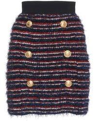 Balmain - Striped Mini Skirt - Lyst