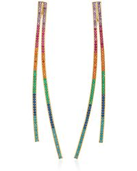 Joanna Laura Constantine - Gold-plated Rainbow Crisscross Earrings - Lyst