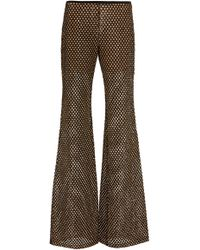 Michael Kors - Sequined Mesh Flared Pants - Lyst