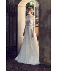 Costarellos Bridal - Geometric Embroidered Tulle Gown - Lyst