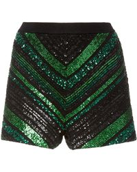 Sally Lapointe - Chevron Knit Shorts - Lyst