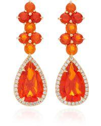 Katherine Jetter - One-of-a-kind Long Fire Opal Drop Earrings - Lyst