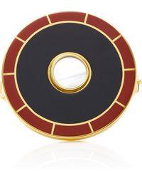 Monica Sordo - Brujo Orbit 24k Gold-plated Brass Mother Of Pearl Cuff - Lyst