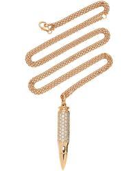 Akillis - 18k Rose Gold Diamond Necklace - Lyst