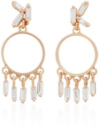 Suzanne Kalan - 18k Rose Gold Diamond Earrings - Lyst