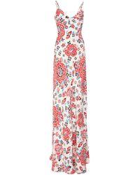 Rebecca de Ravenel - Printed Silk Braided Gown - Lyst