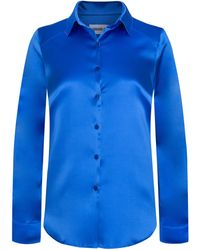 Adriana Iglesias - Julie Collared Silk Satin Shirt - Lyst