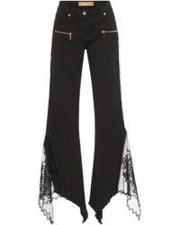 Blumarine - Lace Flare Jeans - Lyst