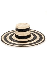 Janessa Leone - Eloise Striped Straw Hat - Lyst