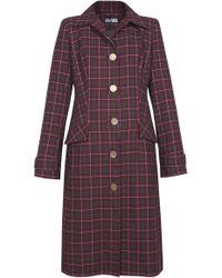 Dalood - Plaid Wool Coat - Lyst