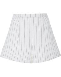 Alexis - Haywood Pinstriped Linen Shorts - Lyst