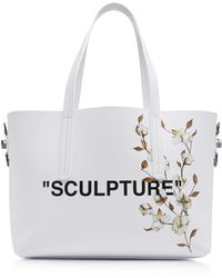 Off-White c/o Virgil Abloh - Cotton Flower Shopper Bag - Lyst