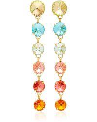 Roxanne Assoulin - Technicolor Rainbow Drop Earrings - Lyst