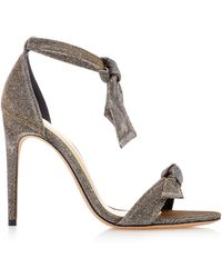 Alexandre Birman - Clarita Bow-embellished Textured-lamé Sandals - Lyst