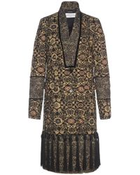 John Galliano - Fringed Tapestry Coat - Lyst