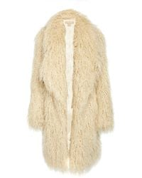 Michael Kors - Faux Fur Coat - Lyst
