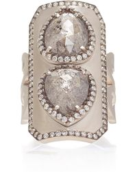 Sylva & Cie - 18k White Gold And Diamond Ring - Lyst