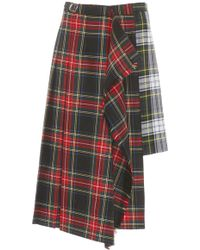 Tuinch - Wool Plaid Kilt Skirt - Lyst