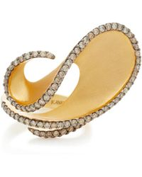 Kavant & Sharart - Dancing Wave 18k Gold And Diamond Ring - Lyst