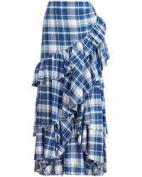 Ralph Lauren - Phaedra Plaid Skirt - Lyst