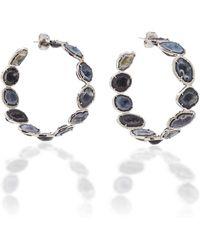 Kimberly Mcdonald - Geode And Diamond Hoop Earrings - Lyst