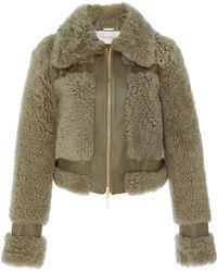 Zimmermann - Cropped Shearling Jacket - Lyst