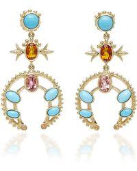 Marlo Laz - Squash Blossom Earrings - Lyst