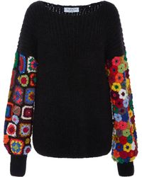 Tuinch - Exclusive Crocheted-panel Cashmere-blend Jumper - Lyst