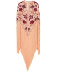 J. Mendel - Embroidered Cape - Lyst