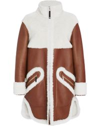 Maison Ullens - Long Sleeve Shearling Coat - Lyst