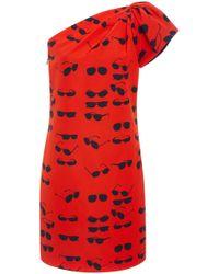 Victoria, Victoria Beckham - One Shoulder Tuck Dress - Lyst
