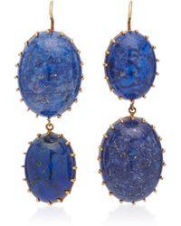 Renee Lewis - 18k Gold Sodalite Earrings - Lyst