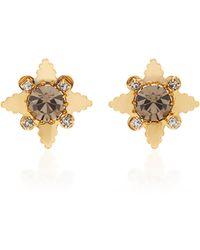 Nicole Romano - 18k Gold-plated Star Crystal Stud Earrings - Lyst