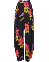 Dodo Bar Or - Sally Floral Crepe Harem Trousers - Lyst