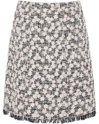 Giambattista Valli - Tweed Mini Skirt - Lyst