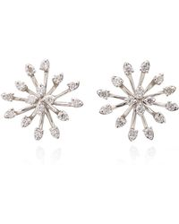 Hueb - M'o Exclusive 18k White Gold And Diamond Earrings - Lyst