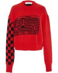 Proenza Schouler - Pswl Checkerboard Sweater - Lyst