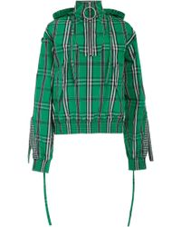 Cedric Charlier - Plaid Smocked Shell Bomber Jacket - Lyst