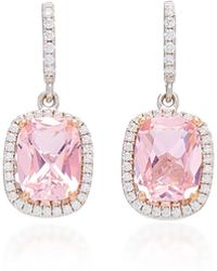 Anabela Chan - 18k White Gold, Morganite, And Diamond Earrings - Lyst
