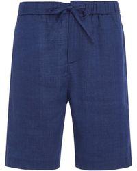Frescobol Carioca - Long Linen Sport Shorts - Lyst