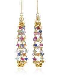 Mallary Marks - Eiffel Tower 18k Gold Multi-stone Earrings - Lyst